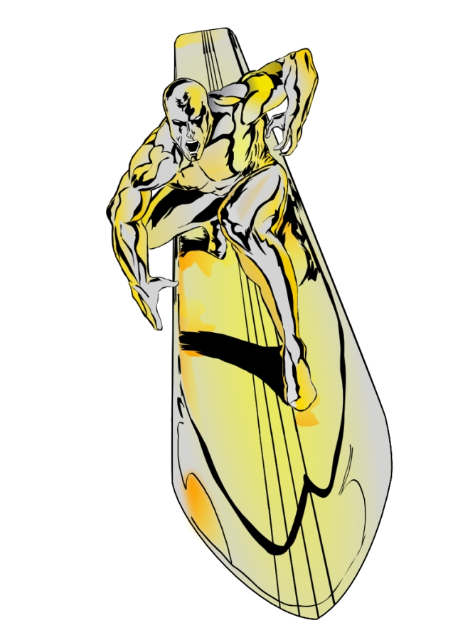 637x900 The Silver Surfer By Lordhelikaon