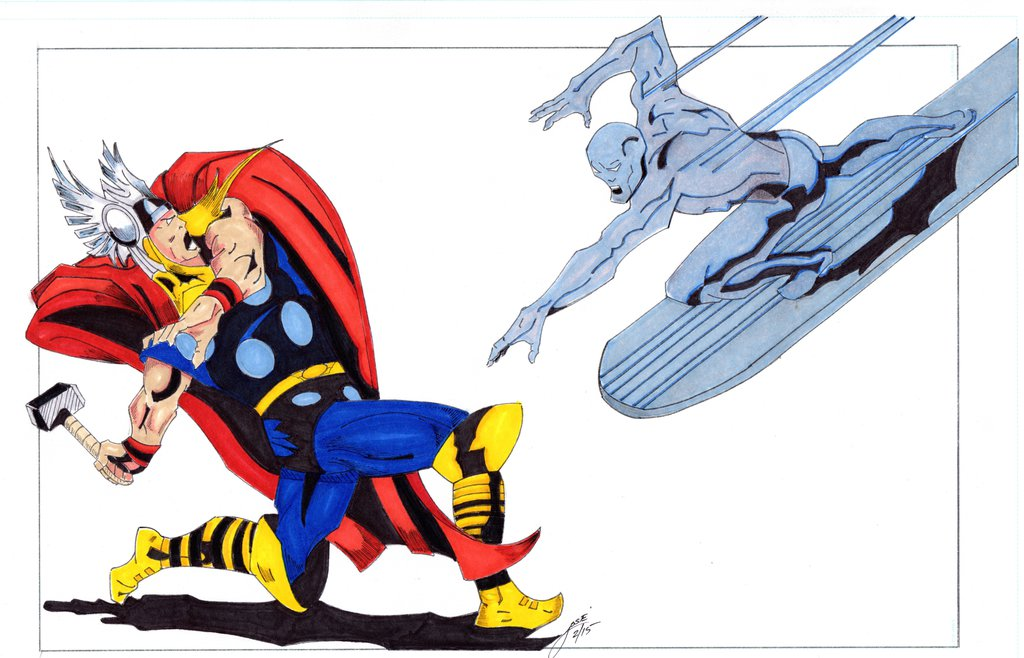1024x658 Thor Vs Silver Surfer 2 28 15083 2 By Papotorres45