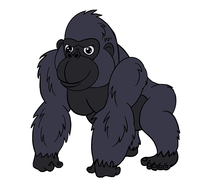 678x600 Cartoon Gorilla Pictures Free Download Clip Art