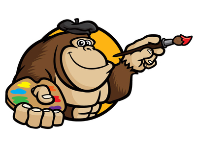 400x300 Cartoon Gorilla Pictures