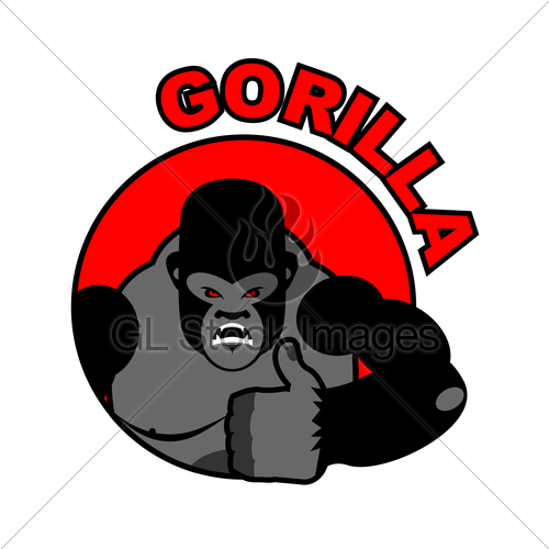 500x500 Gorilla Shows Well. Sign All Right. Thumbs Up. Hand Showi Gl