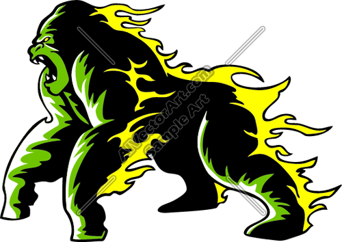 500x354 Gorillaflamesp016 Clipart And Vectorart Sports Mascots