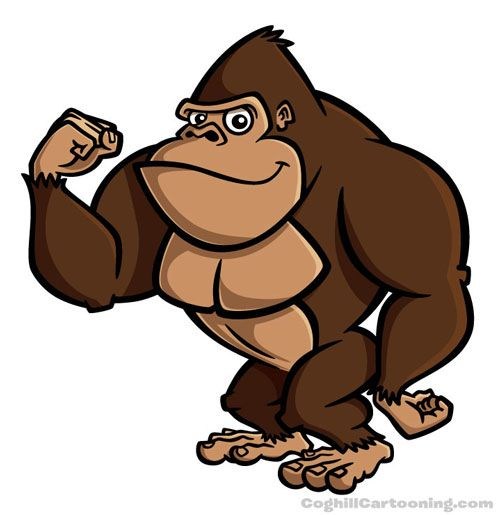 500x515 28 Best Gorilla Cartoon Images On Clip Art