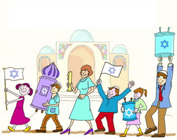 570x450 Jewish Coloring Pages For Kids Simchat Torah