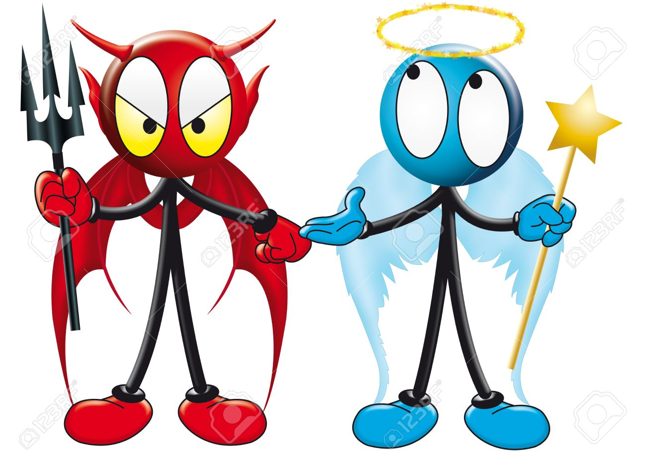1300x909 Devlil And Angel Clipart Amp Devlil And Angel Clip Art Images