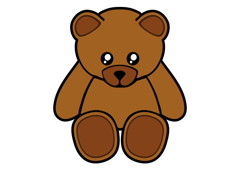 800x566 Free Clipart Simple Teddy Bear Gigglish