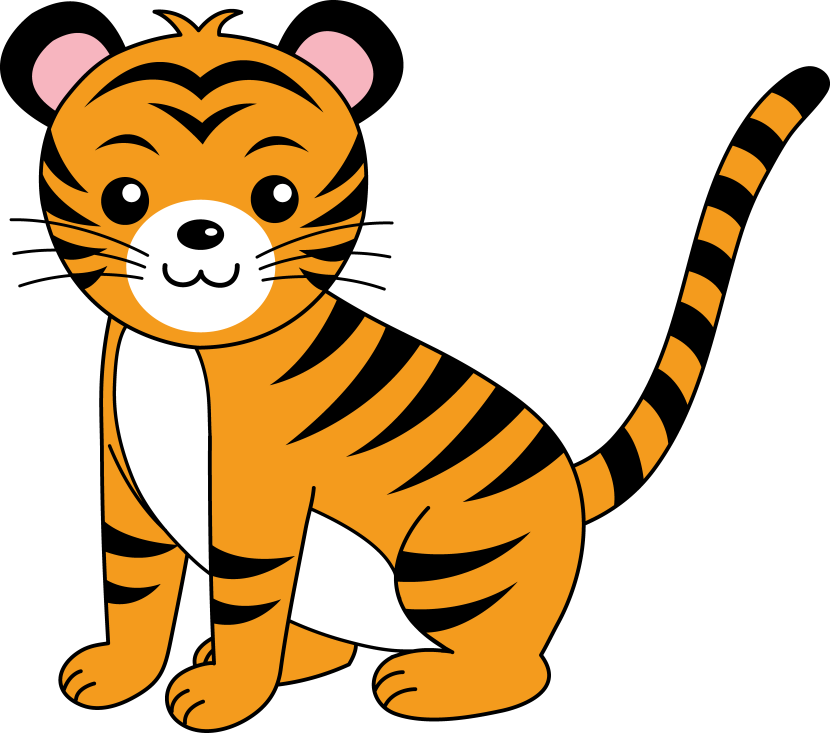 830x733 Simple Clipart Tiger