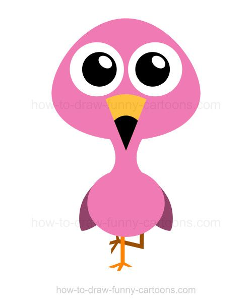 500x605 Flamingo Clipart Easy Cartoon