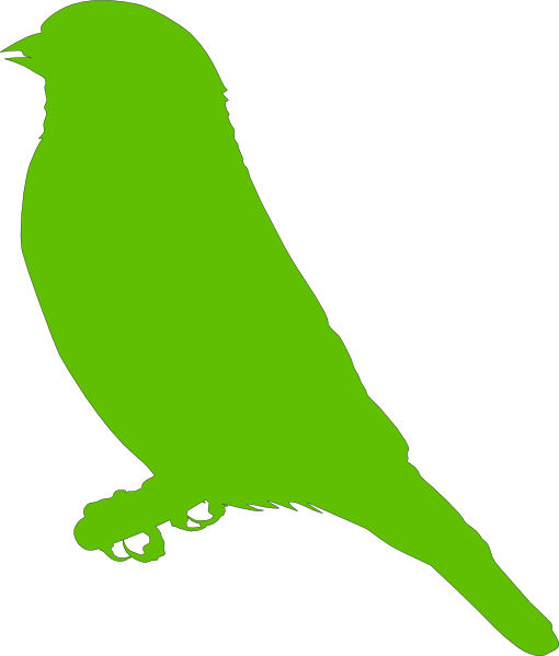 510x599 Lighter Green Bird Clip Art