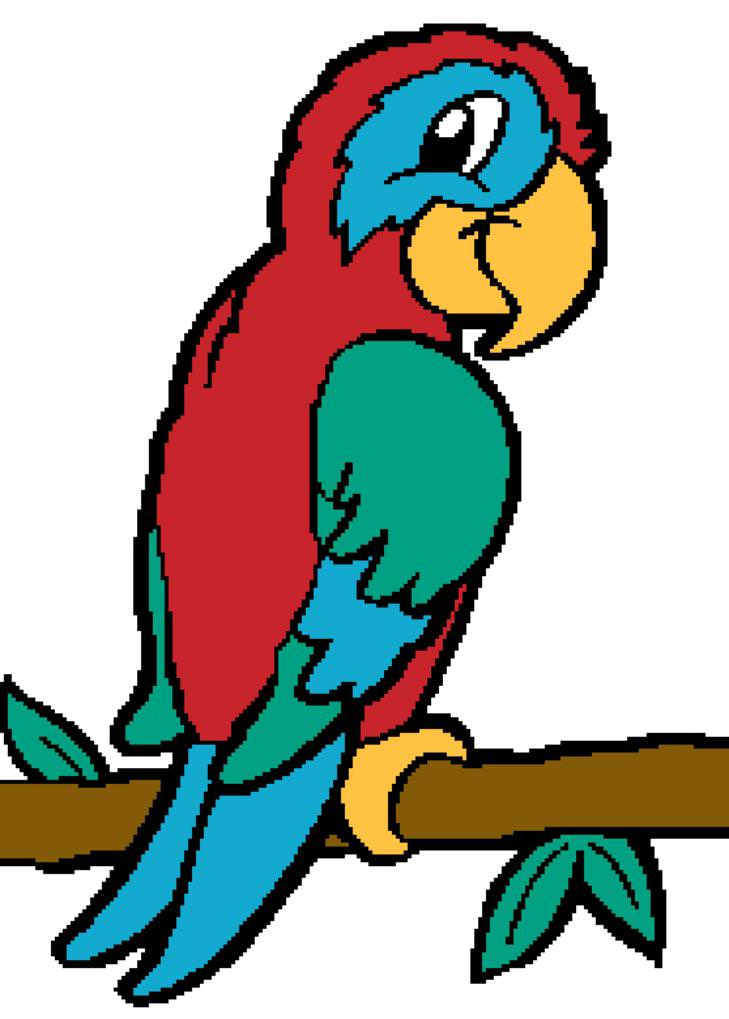729x1019 Parrot Clipart Simple