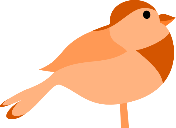 600x437 Simple Cartoon Bird Clip Art