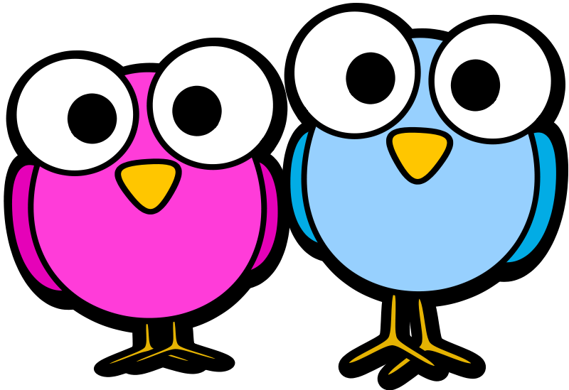 800x549 Simple Ideas Cartoon Clipart Free Two Birds Clip Art
