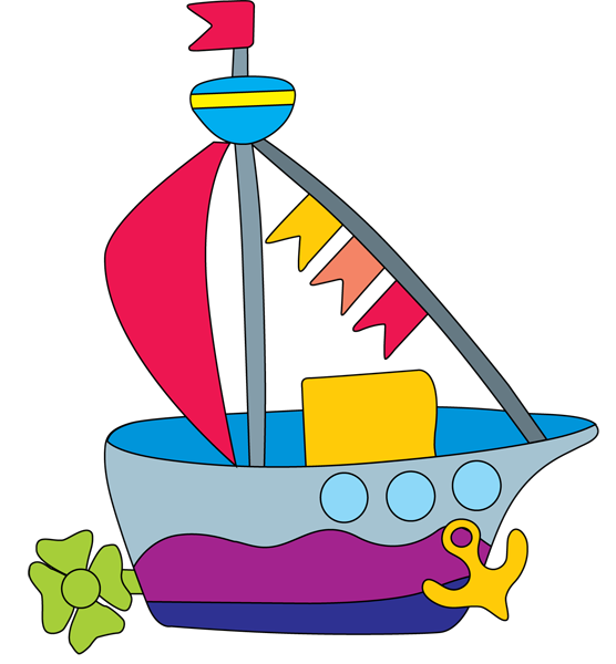 556x600 Clipart Boat 1