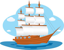 210x162 Wooden Boats Clipart