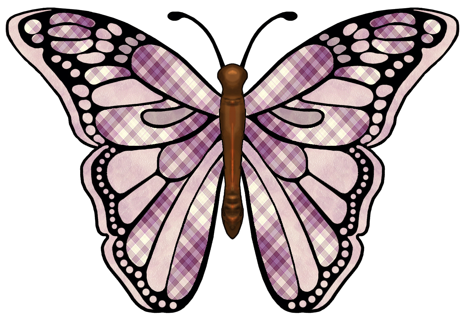 1484x1026 Butterfly Wings Clipart
