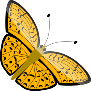 300x300 Simple Butterfly Clip Art