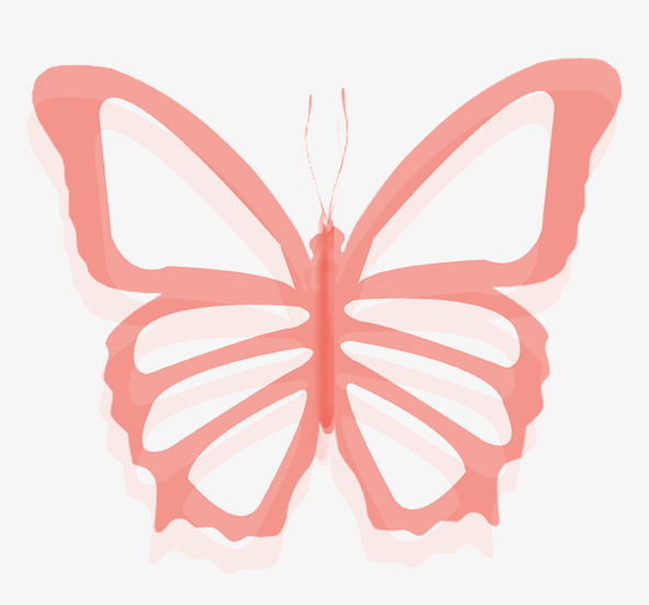 591x551 Simple Pink Butterfly Image, Simple, Butterfly, Image Png Image