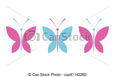 450x301 Simple Colorful Butterflies. Butterflies Design. Collection