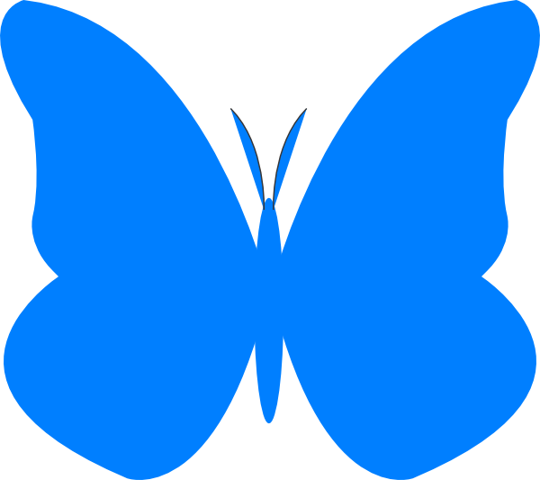 simple butterfly clipart at getdrawings com free for personal use rh getdrawings com blue monarch butterfly clipart free blue butterfly clipart