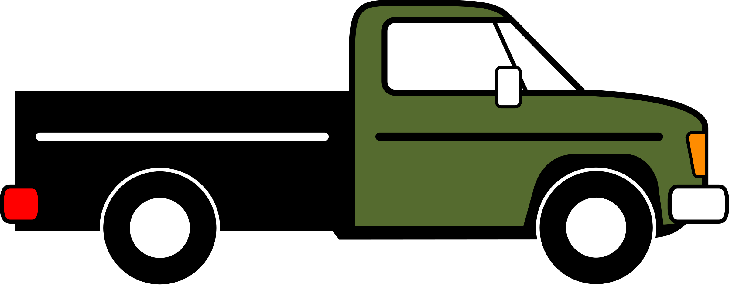 2400x949 Clip Art Pickup Truck Clip Art