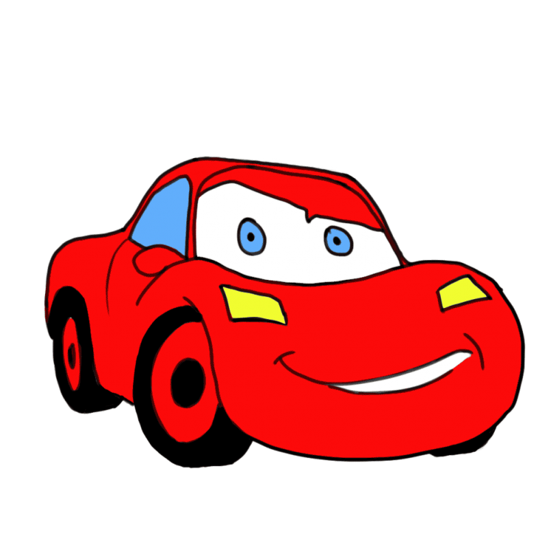 805x805 Drawing How To Draw A Cartoon Race Car Step By Step As Well As