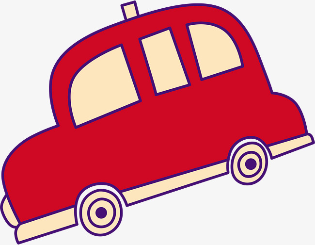 650x505 Hand Painted Red Car, Hand Drawn Car, Simple, Playful Png Image
