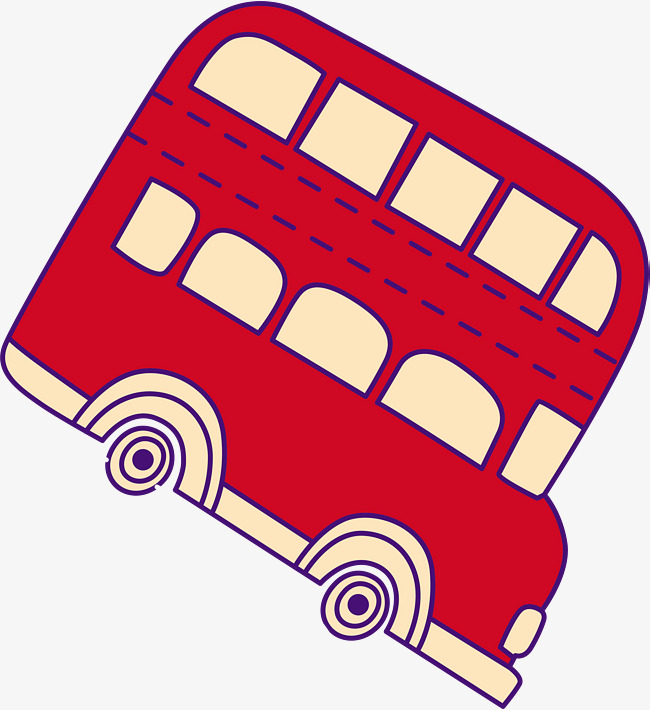 650x710 Hand Painted Red Car Bus, Hand Drawn Car, Simple, Watercolor Png