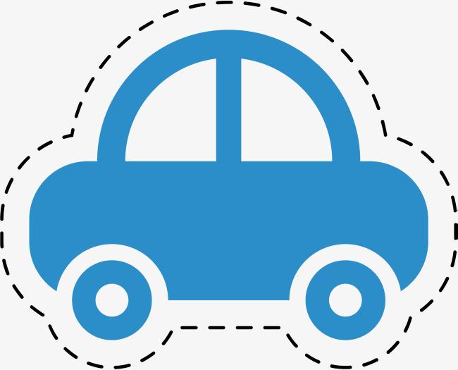 650x525 Simple Blue Car, Simple Car, Car Stickers, Watercolor Png Image
