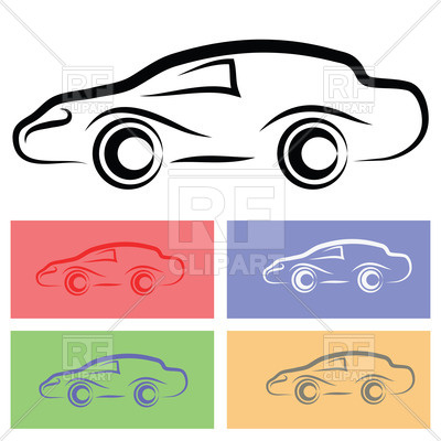 400x400 Simple Car Silhouette Royalty Free Vector Clip Art Image