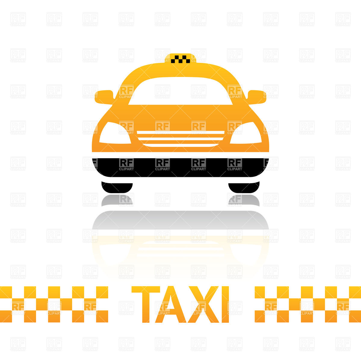 1200x1200 Taxi Car Simple Icon Royalty Free Vector Clip Art Image