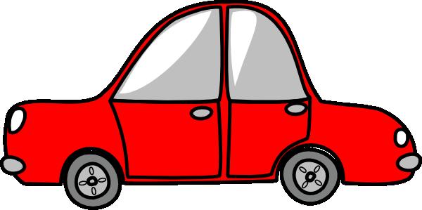 600x299 Car Red Simple Clip Art