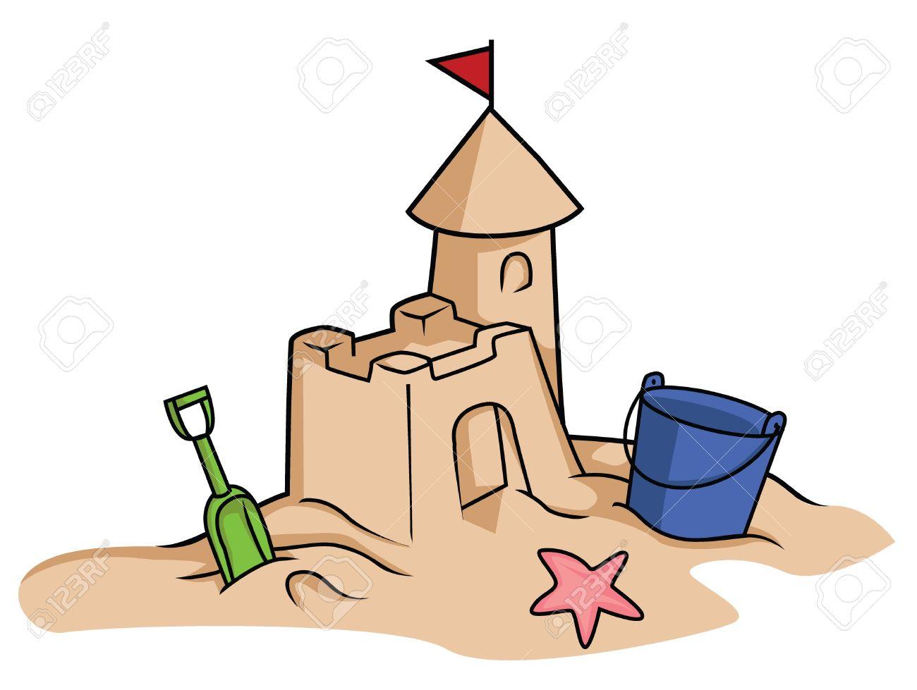 1300x979 Sand Castle Clipart Cartoon