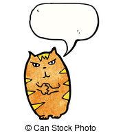 179x194 Evil Cartoon Cat. Vector Clip Art Illustration With Simple