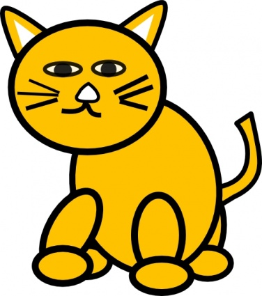376x425 Free Download Of Cat Round Clip Art Vector Graphic