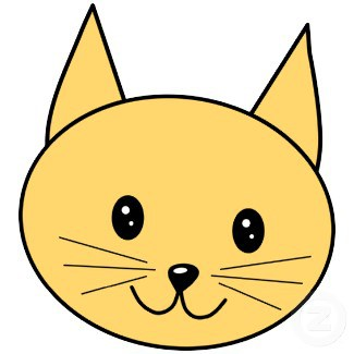 325x325 How To Draw A Simple Cat Face