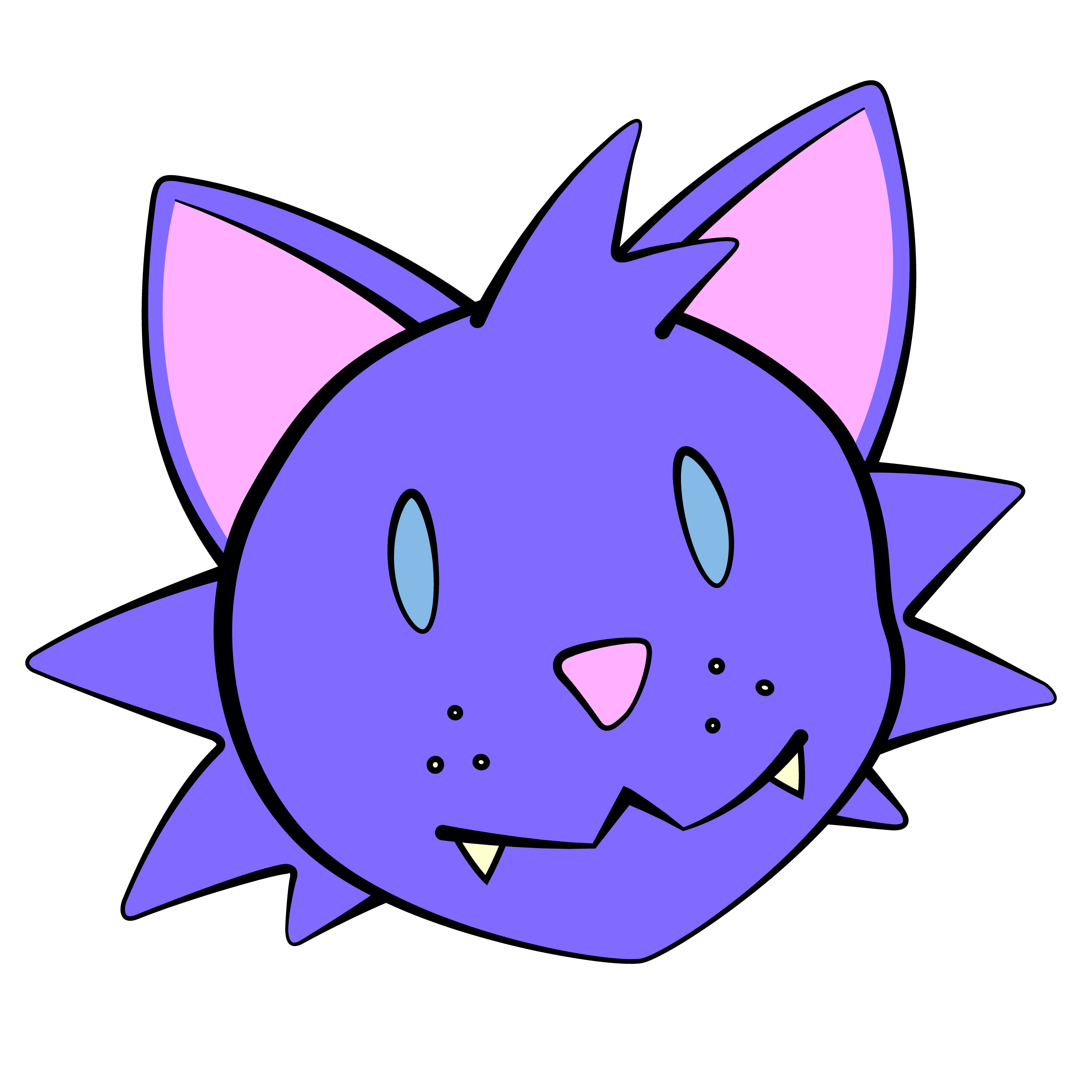 2500x2500 Anime Clipart Pink Cat