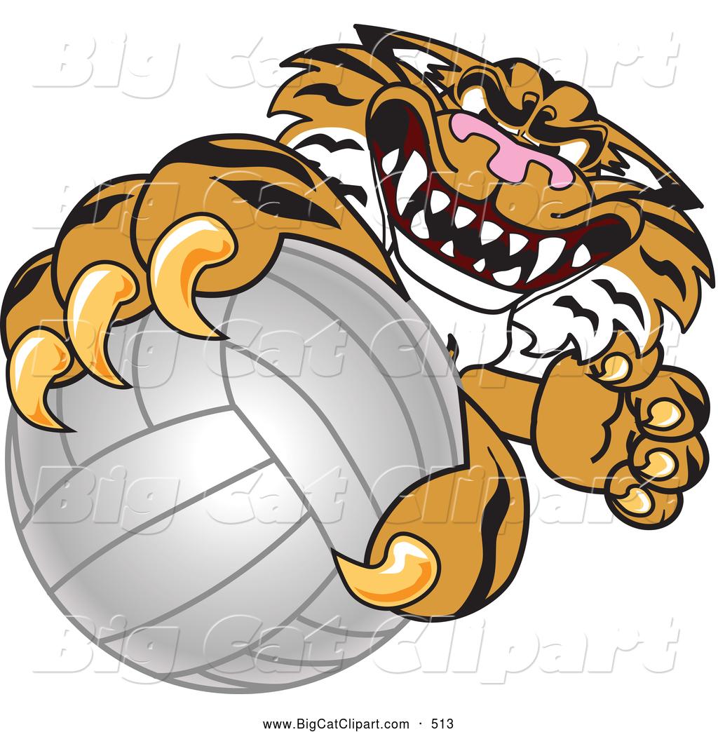 1024x1044 Big Cat Cartoon Vector Clipart Of A Mean Tiger Character School