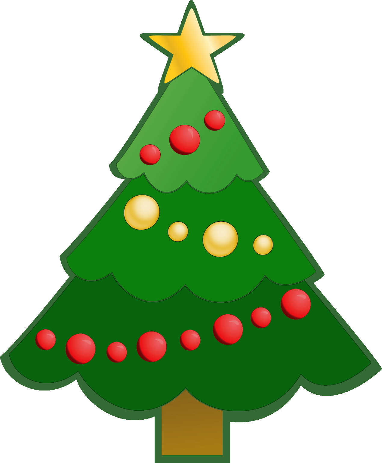 1270x1539 Transparent Deco Christmas Tree With Gifts Clipart Gallery Simple