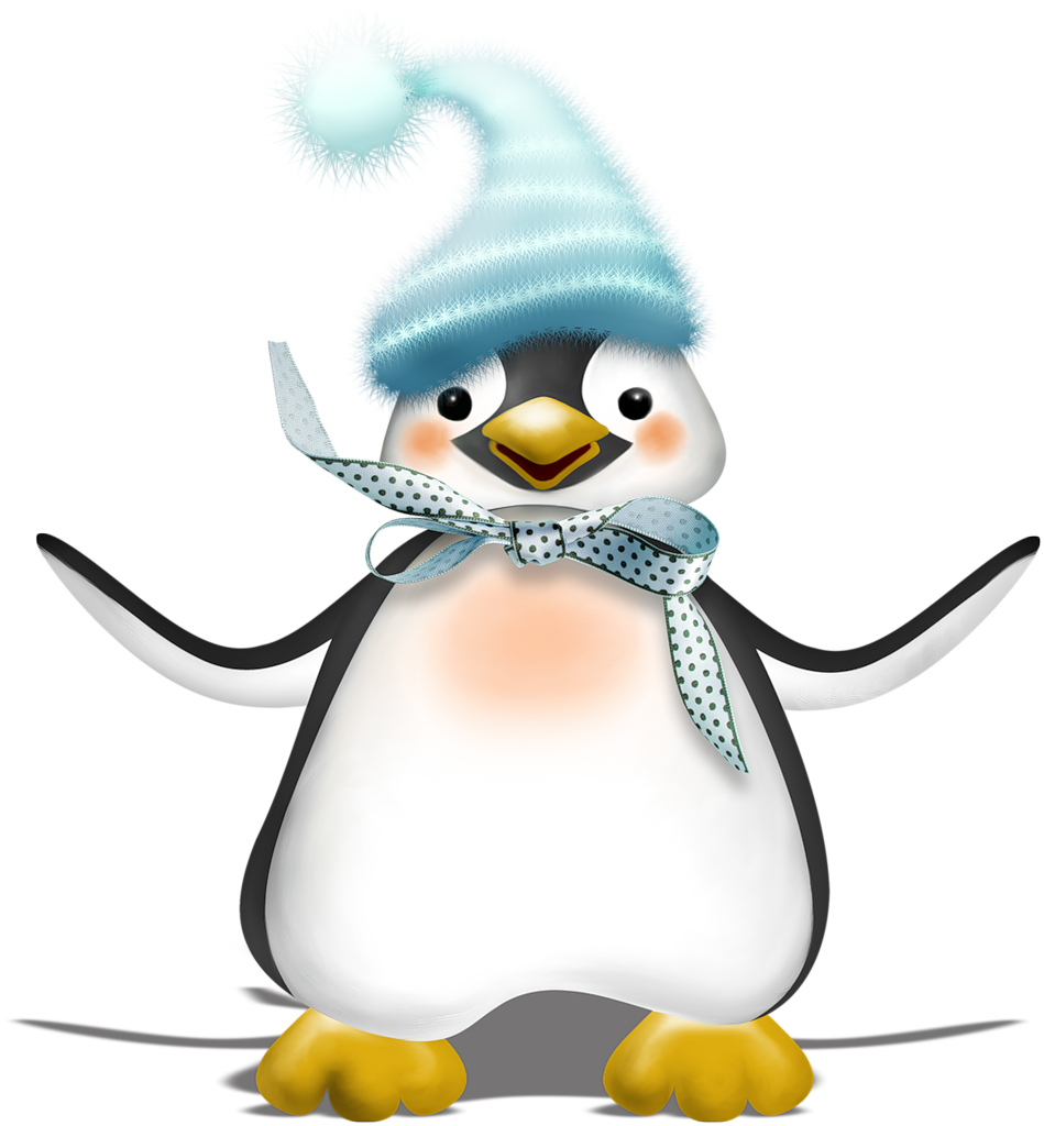 949x1024 Vc Funonice Shadowed3.png Penguins, Clip Art And Christmas Paintings