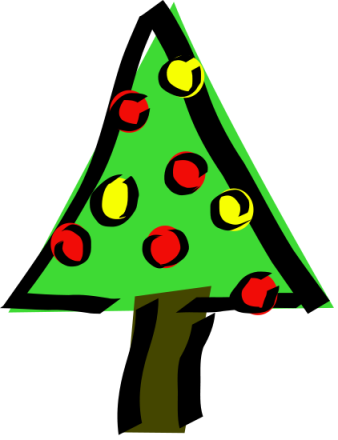 338x440 Free Christmas Decorations Clipart
