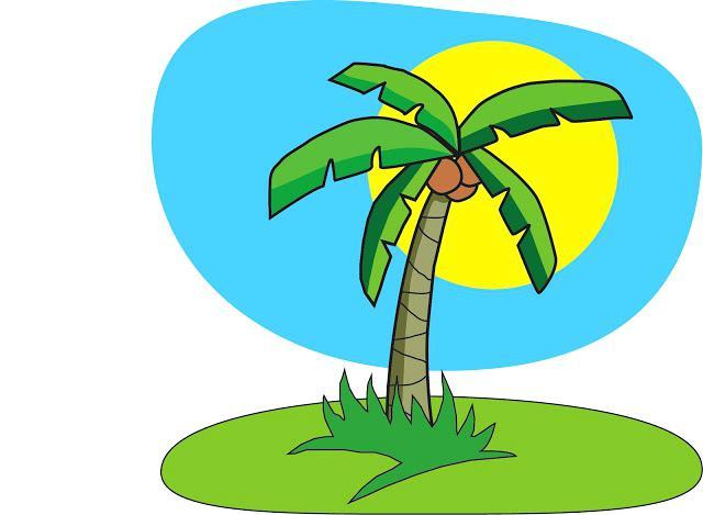 640x469 Free Clip Art Palm Tree Honey Designer Illustrator Honey Designer