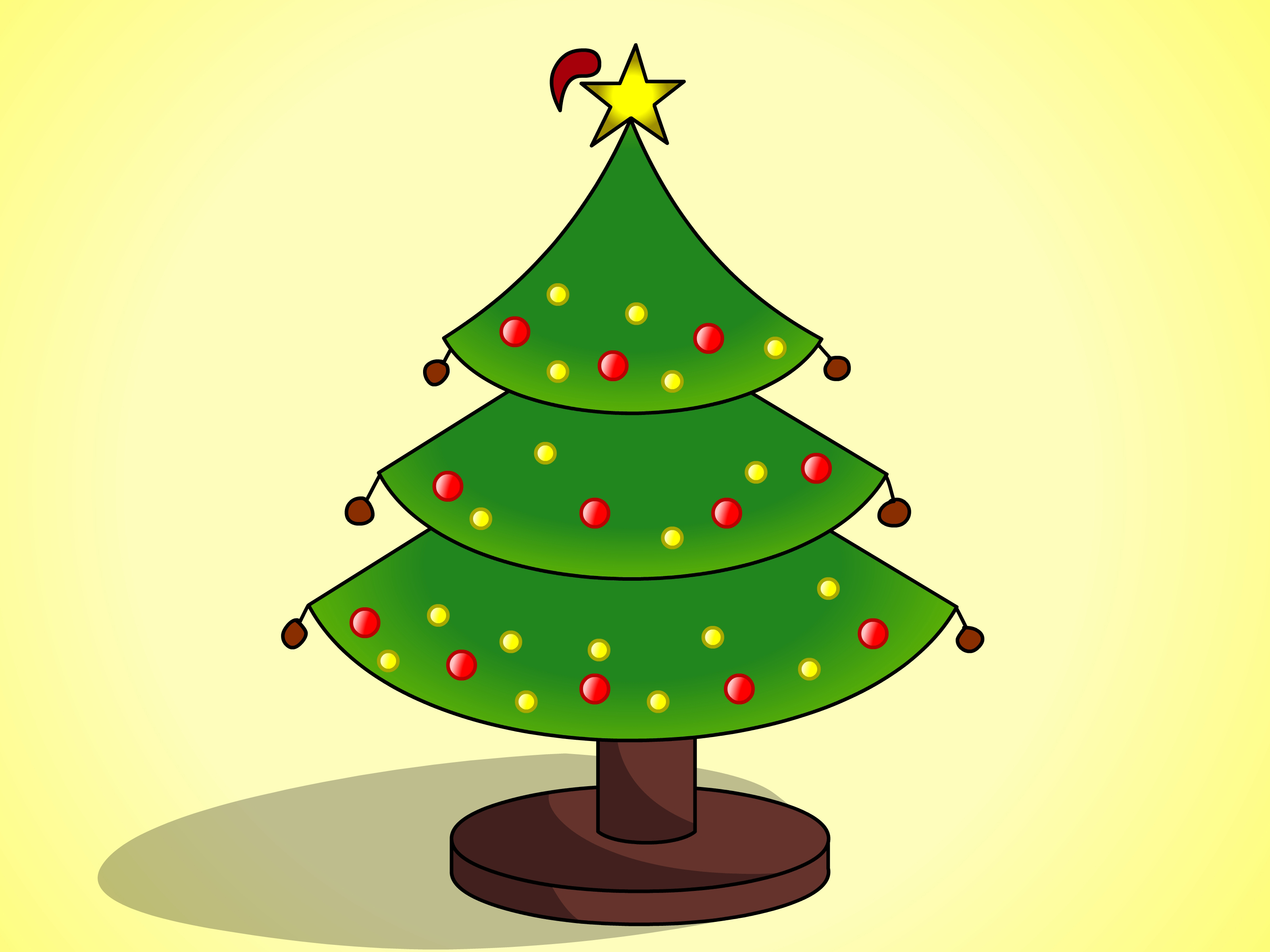 3200x2400 Simple Christmas Tree Drawing Clipart