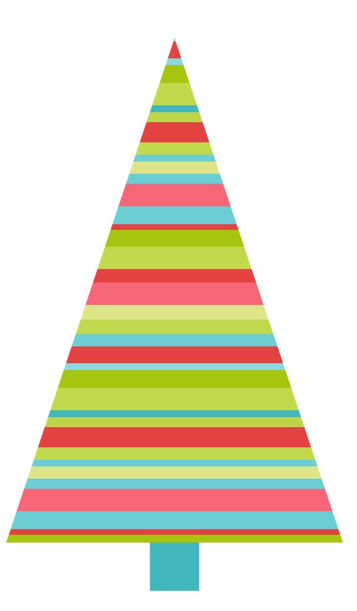 736x1260 Transparent Deco Christmas Tree With Gifts Clipart Gallery Simple