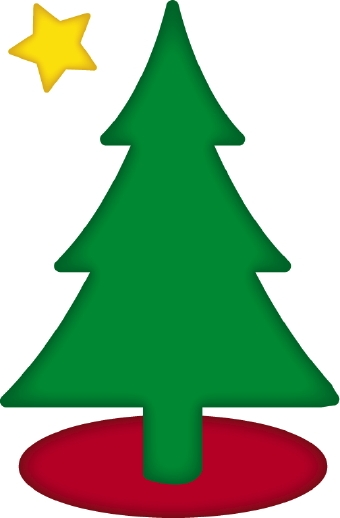 340x518 Collection Of Simple Clip Art Christmas Tree High Quality