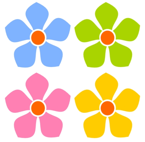 480x471 Free Clip Art Simple Flowers