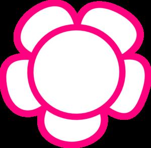 300x294 Simple Flower Clip Art
