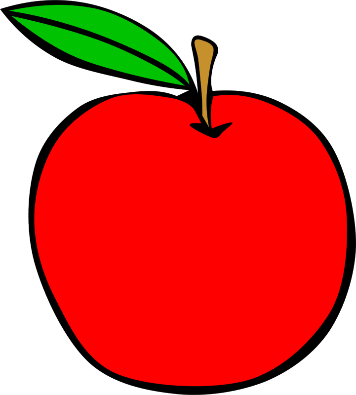 721x800 Simple Fruit Apple By Gerald G