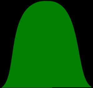 298x282 Simple Green Hill Clip Art