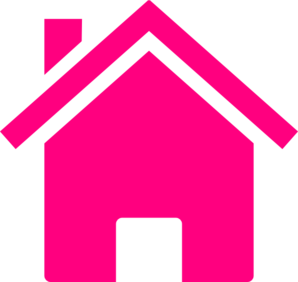 298x282 Simple Pink House Clip Art