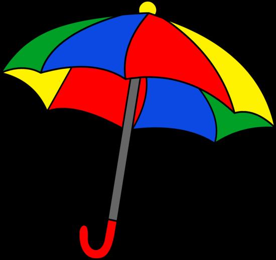 550x518 Umbrella Clipart Simple Colorful Umbrella Clipart Free Clip Art